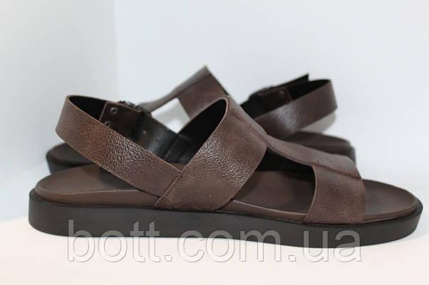 Босоножки кожаные коричневые, фото 2