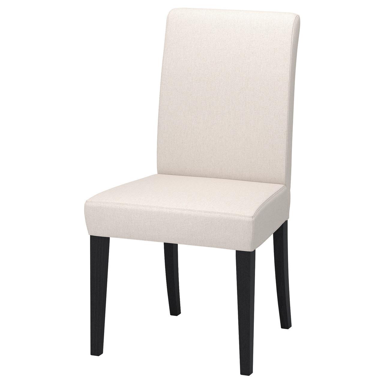 IKEA HENRIKSDAL Стілець, темно-коричневий, натуральний linneryd (292.208.22)
