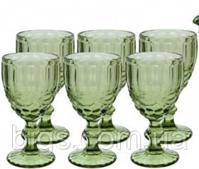 "Бокалы для вина зеленые 6 шт,  300 мл ""Винтаж"" ( набор бокалов )"