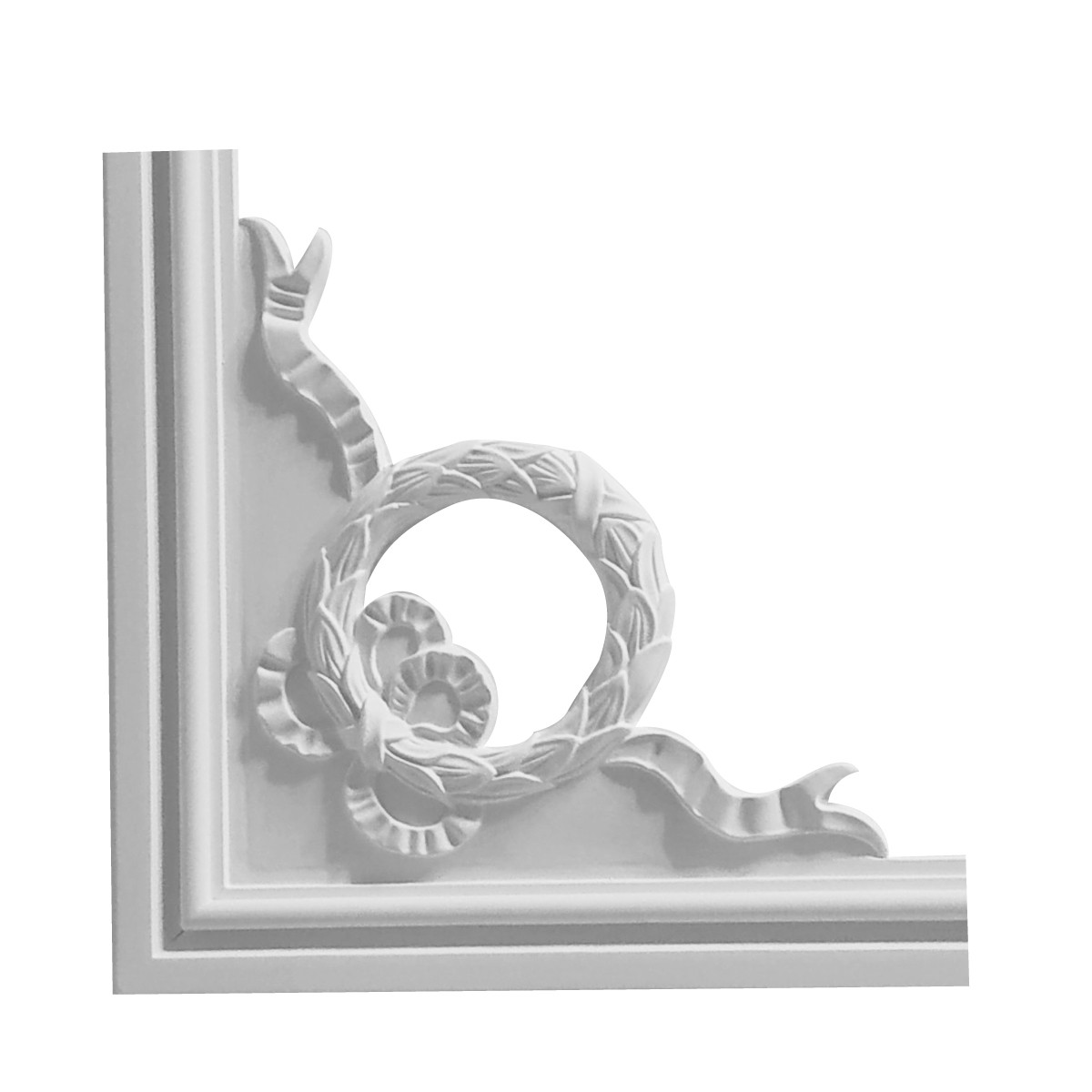 Гипсовая лепнина декоративный угол у-42б h220x220мм