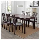 IKEA EKEDALEN Раздвижной стол, темно-коричневый  (203.407.58), фото 2
