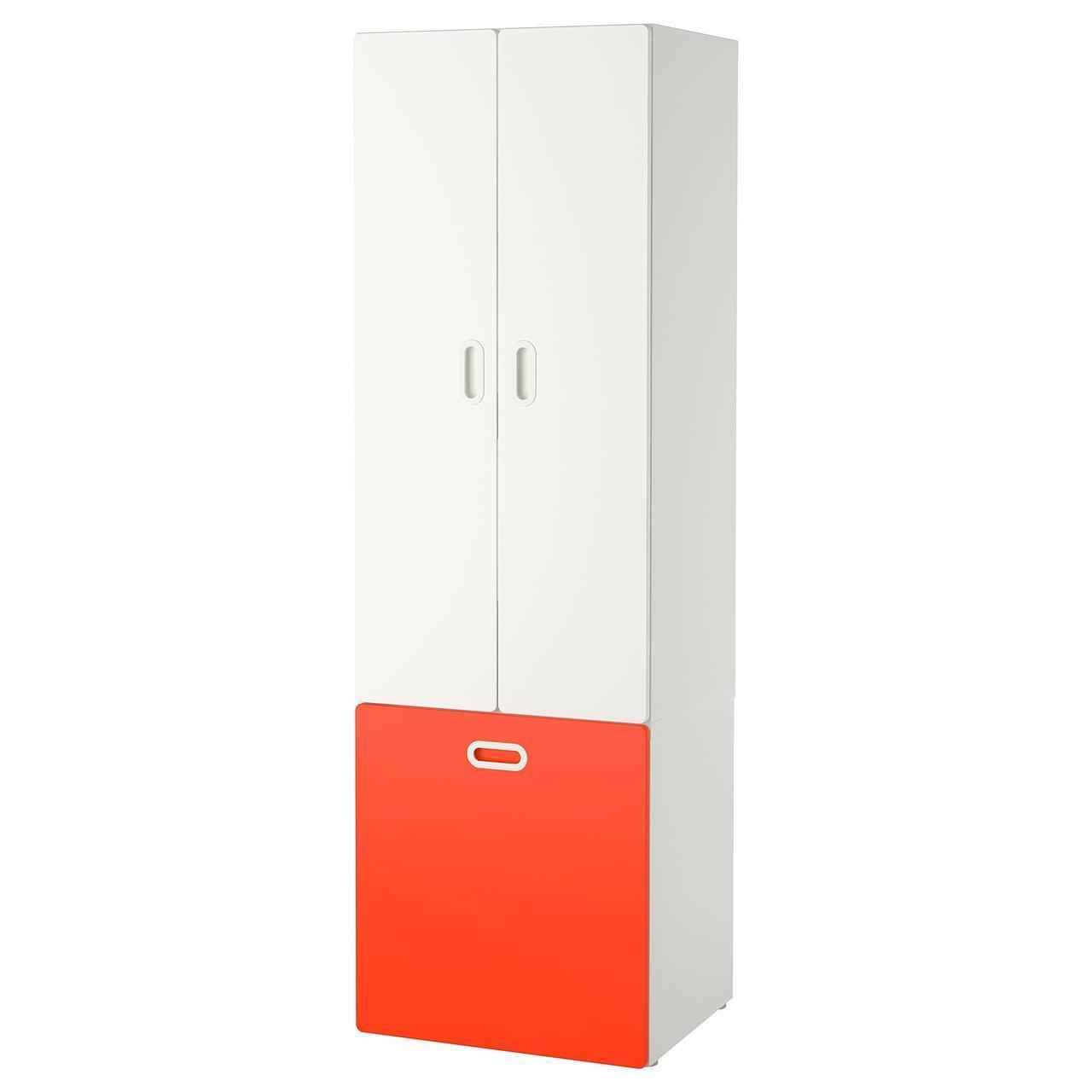 IKEA STUVA/FRITIDS Шкаф с ящиком для хранения игрушек, белый, красный  (292.796.57)