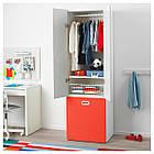 IKEA STUVA/FRITIDS Шкаф с ящиком для хранения игрушек, белый, красный  (292.796.57), фото 3