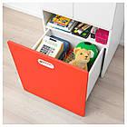 IKEA STUVA/FRITIDS Шкаф с ящиком для хранения игрушек, белый, красный  (292.796.57), фото 4