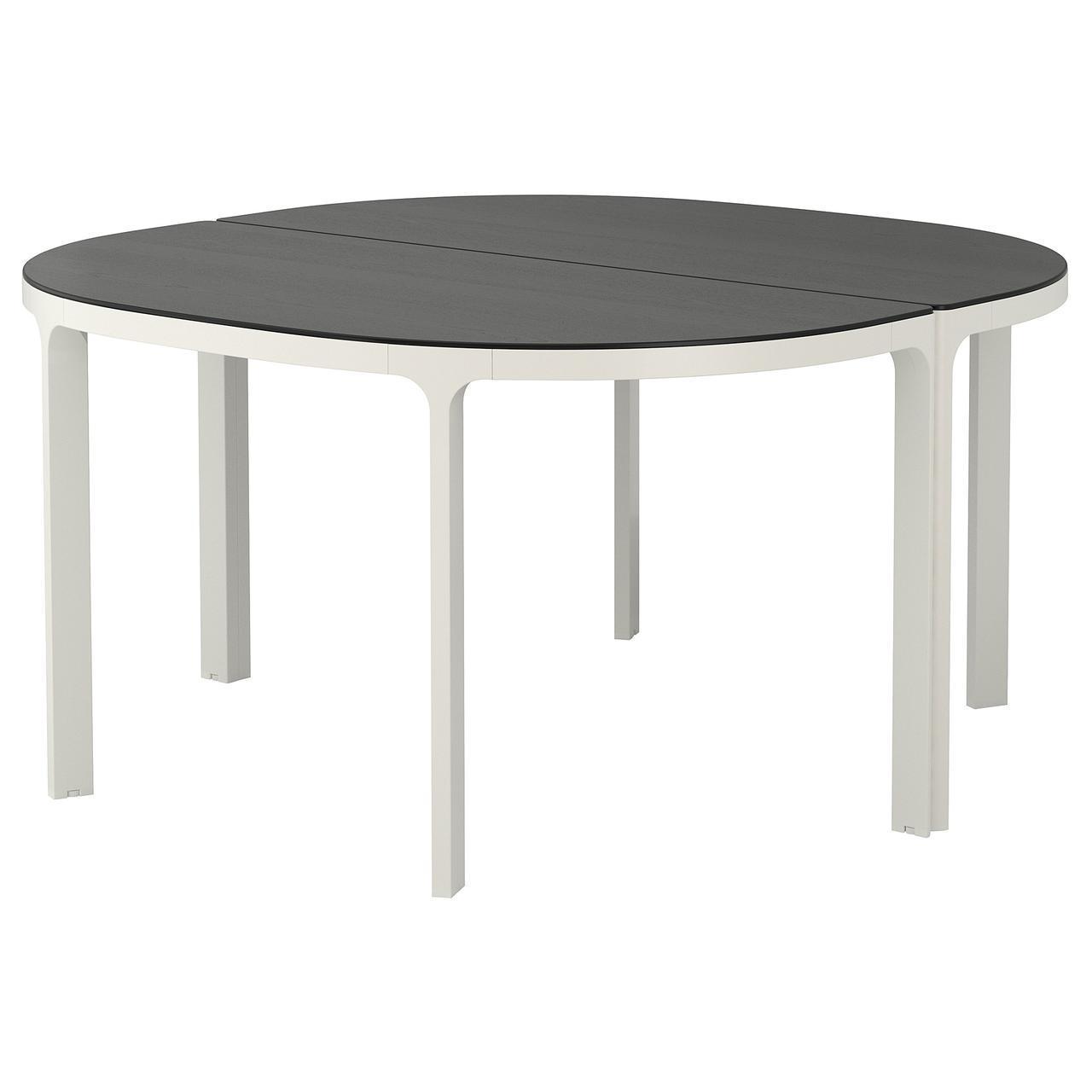 IKEA BEKANT Стол для конференций, черный окрашенный ясень шпон, белый  (492.846.72)