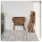 IKEA ASKHOLMEN Садовый стол и 2 раскладных стула, серо-коричневая морилка, (792.623.05), фото 3