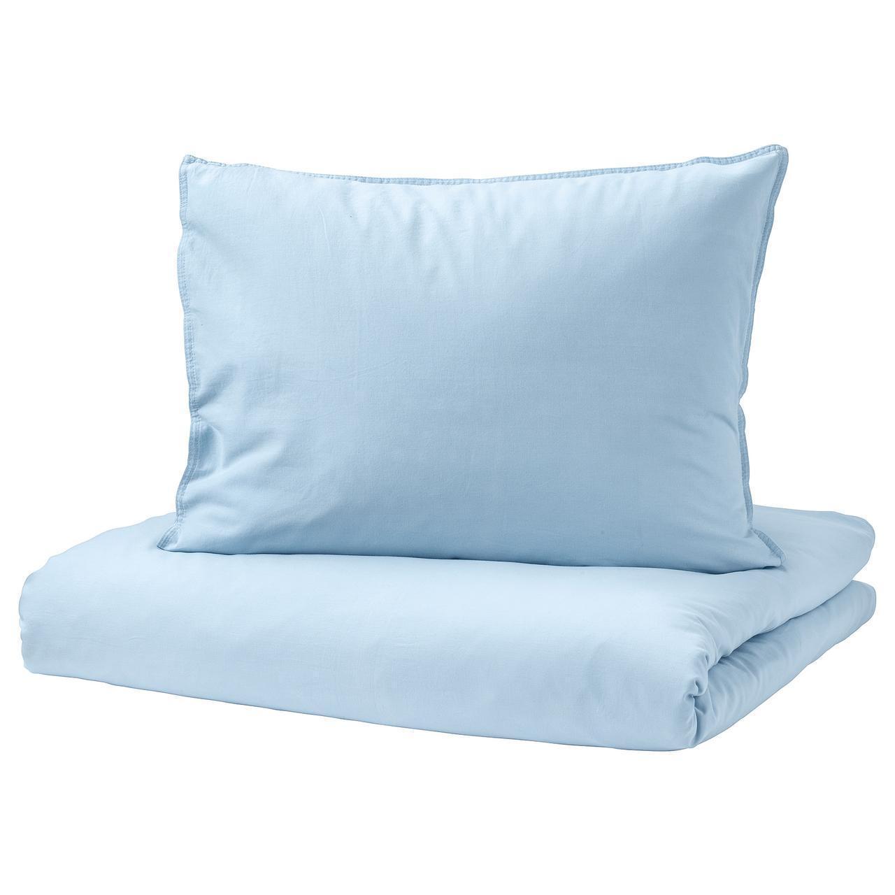 IKEA ANGSLILJA Комплект постельного белья, светло-голубой  (003.186.21)