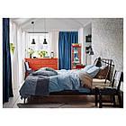 IKEA ANGSLILJA Комплект постельного белья, светло-голубой  (003.186.21), фото 5