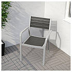 IKEA SJALLAND Садовый стол и 2 стула, темно-серый, Фрезен/дувхолмен темно-серый  (792.652.19), фото 3