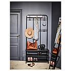 IKEA PINNIG Вешалка для одежды со скамейкой, черная  (203.297.89), фото 3
