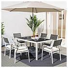 IKEA SJALLAND Садовый стол и 6 стульев, стекло (692.664.55), фото 2