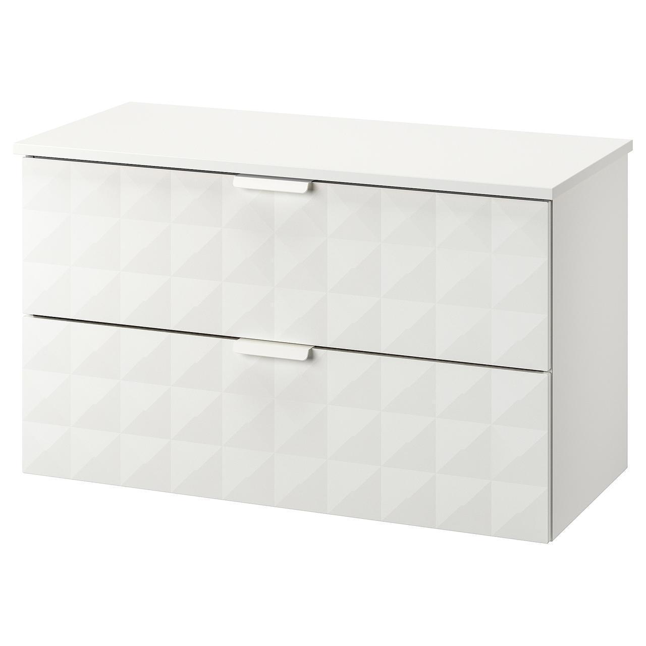 IKEA GODMORGON/TOLKEN Шкаф под умывальник со столешницей, Ресжöн белый, белый  (892.955.22)