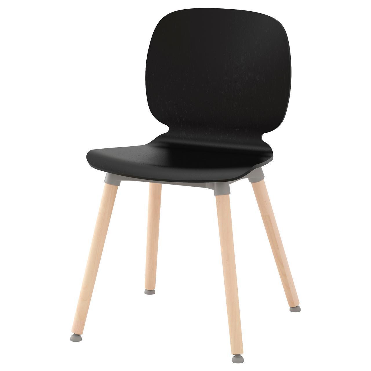 IKEA SVENBERTIL Стул, черный, Эрнфрид береза  (491.976.94)