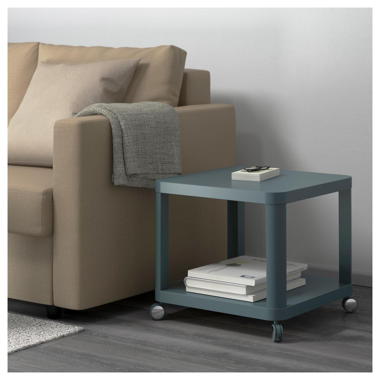 Стол на колесиках IKEA TINGBY, бирюзовый  (103.494.48)