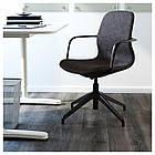 IKEA LANGFJALL Рабочий стул, темно-серый, черный  (991.762.22), фото 2