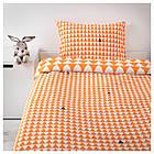 IKEA STILLSAMT Комплект постельного белья, светло-оранжевый  (103.586.59), фото 4