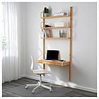 IKEA SVALNAS Настенный стол с полками, бамбук  (292.217.65), фото 2