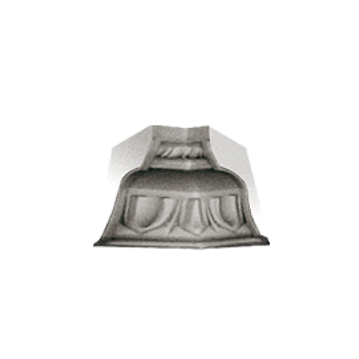 Гипсовая лепнина декоративный угол у-47 h65х88мм