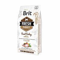 Корм Брит Фреш Brit Fresh Turkey Pea With Light Fit Slim для собак індичка з горошком 12 кг