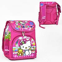 614298342a34 Рюкзак каркасный школьный Hello Kitty ортопедический Розовый (St2008)