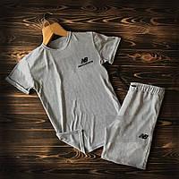 Мужской летний набор футболка+шорты New Balance ST324, Реплика