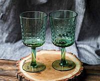 """Бокалы для вина зеленые 6 шт, 350 мл """"Пимпл"""" ( набор бокалов )"""