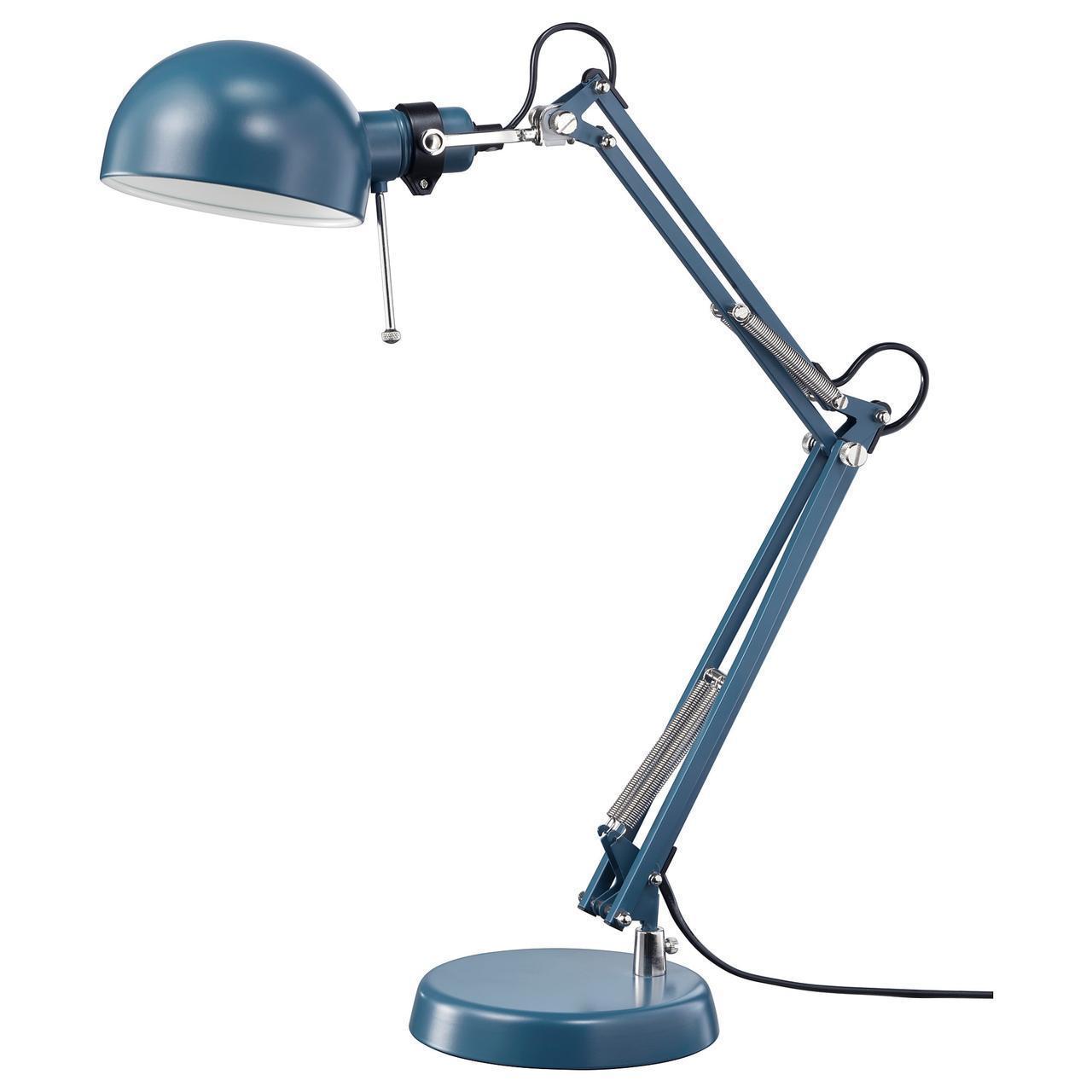 IKEA FORSA Наcтольная лампа, синий  (303.580.26)