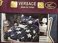 Полуторное постельное белье VERSACE (материал фланель)  расцветки в ассортименте