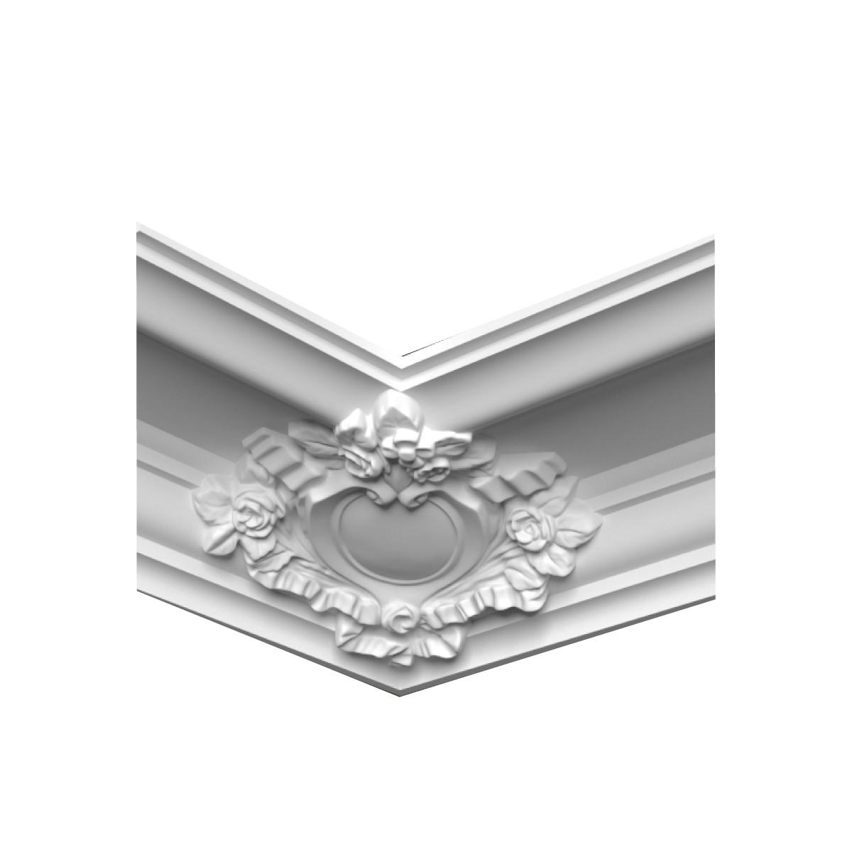 Гипсовая лепнина декоративный угол у-49 h251х251мм