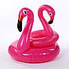 Надувной круг розовый Фламинго, 90см., фото 2