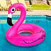 Надувной круг розовый Фламинго, 90см., фото 4
