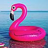 Надувной круг розовый Фламинго, 90см., фото 5