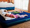 Двухместный надувной матрас Intex 68759 с велюровым покрытием 152х203х22 см, фото 5