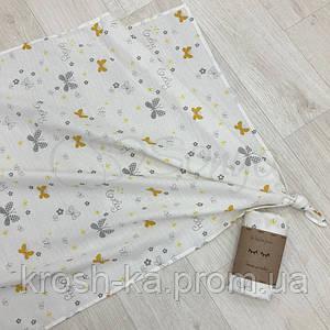 Пеленка муслин бабочки желтые Маленькая Соня(Sonya) Украина ФР-00014316