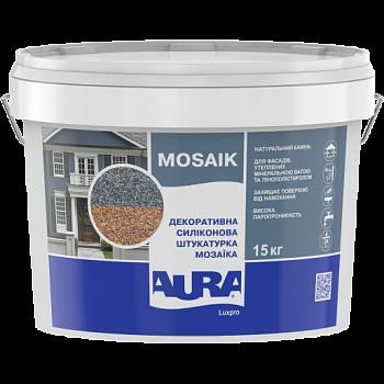 """Декоративная штукатурка """"мозаика"""" AURA Luxpro Mosaik, силиконовая, 1,5мм, 15кг"""