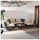 IKEA KUNGSHOLMEN Набор садовой мебели для 4 человек, черно-коричневый, бежевый Холло (690.255.69), фото 2