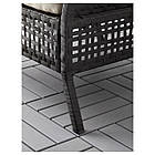 IKEA KUNGSHOLMEN Набор садовой мебели для 4 человек, черно-коричневый, бежевый Холло (690.255.69), фото 6