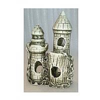 Керамика для аквариума Замок-башня, 17х12х24 см, фото 1