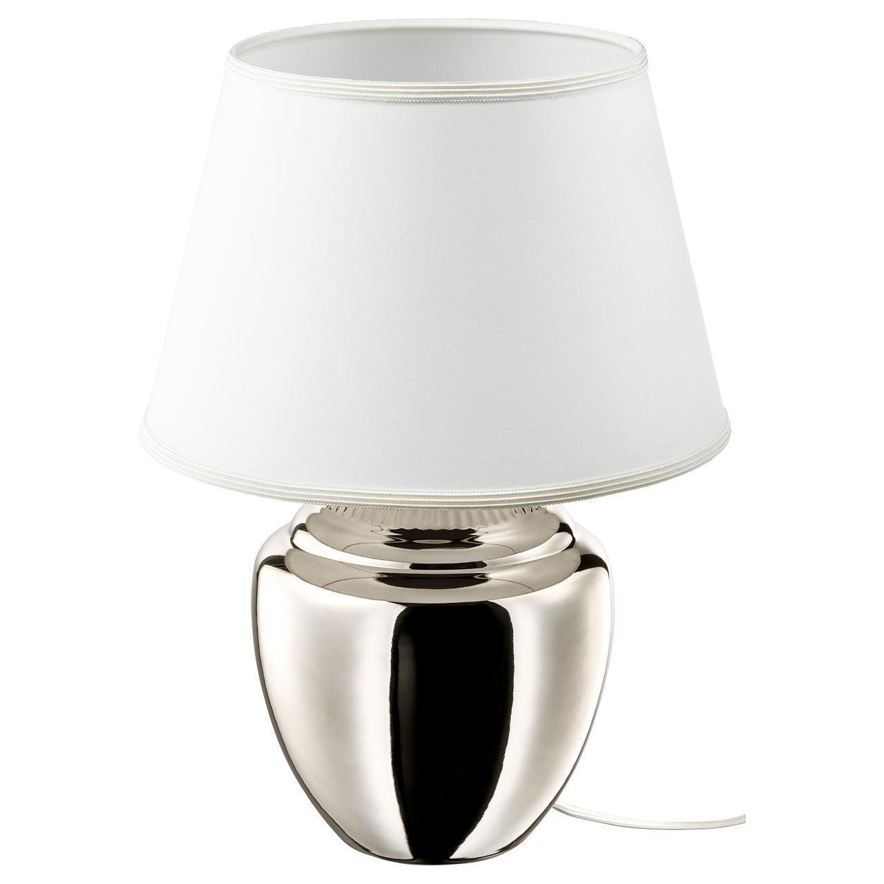 IKEA RICKARUM Наcтольная лампа, серебро  (803.495.34)