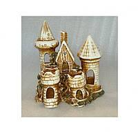 Керамика для аквариума Замок средний, 19х15х19 см