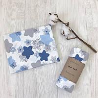 Пеленка фланель пряники голубые Маленькая Соня(Sonya) Украина 466587