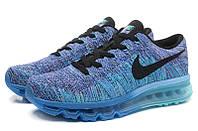 Кроссовки  Nike Flyknit Air Max (Blue)