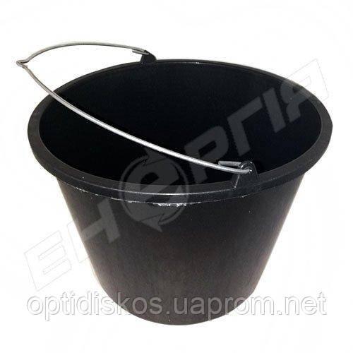 Ведро пластиковое 14 литров Черное