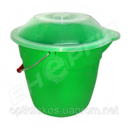 Ведро пластиковое 8 литров пищевое с крышкой