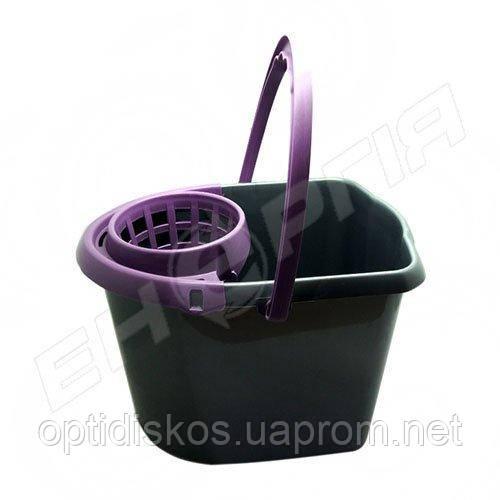 Ведро пластиковое с местом для отжима №0979