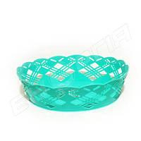 Корзинка пластиковая круглая 19см (для фруктов) №890
