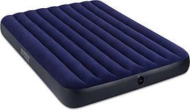 Двухместный надувной матрас Intex 68759 с велюровым покрытием 152х203х22 см