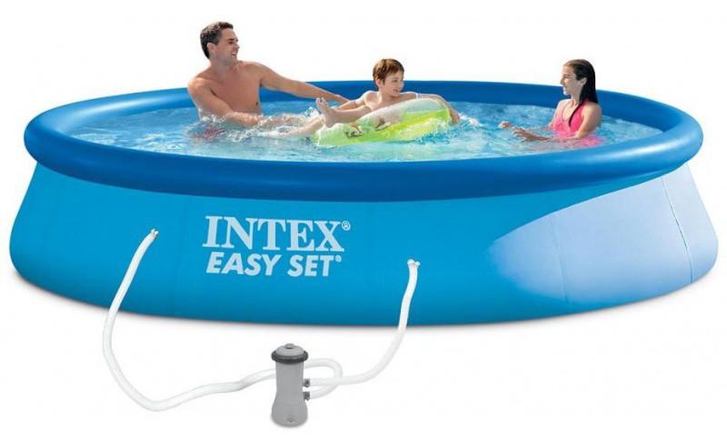 Надувной бассейн на 7290 л Intex 28142 с фильтром 2006 л/ч 396 х 84 см