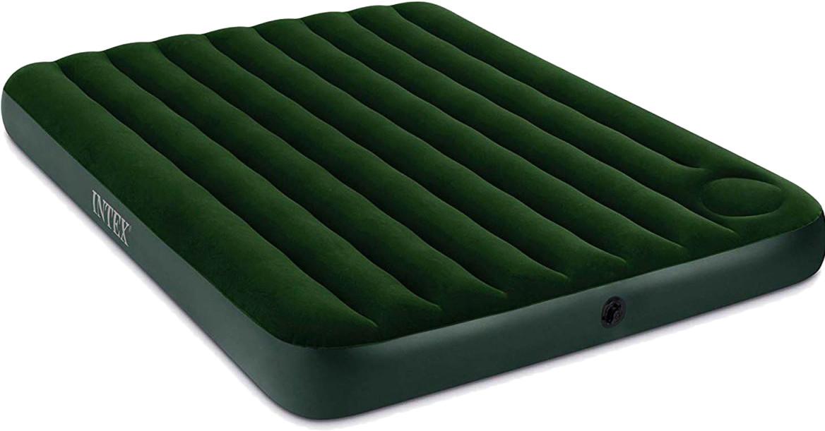 Двухместный надувной матрас Intex 66929 со встроенным ножным насосом 152х203х22 см