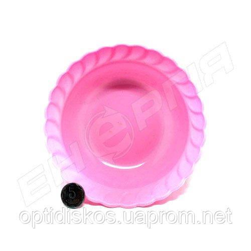 """Тарелка-глубокая пластиковая цветная 13,5 см """"Косичка"""""""